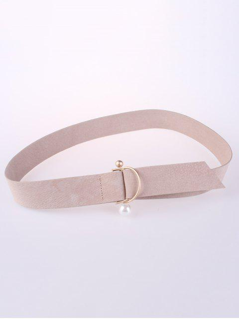 hot D Buckle Faux Suede Waist Belt - LIGHT CAMEL  Mobile