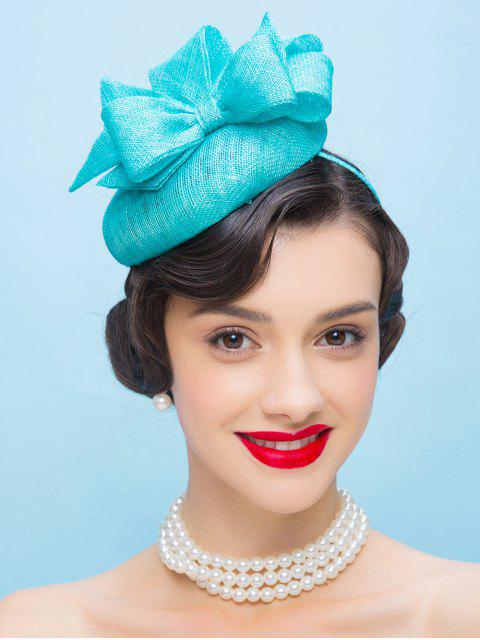 chic Bowknot Hairband Pillbox Hat -   Mobile