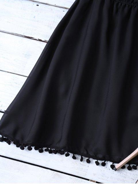 sale Ruffles Mini Off The Shoulder Dress - BLACK M Mobile