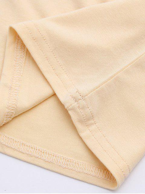 women's Cold Shoulder Crop Tee - APRICOT M Mobile