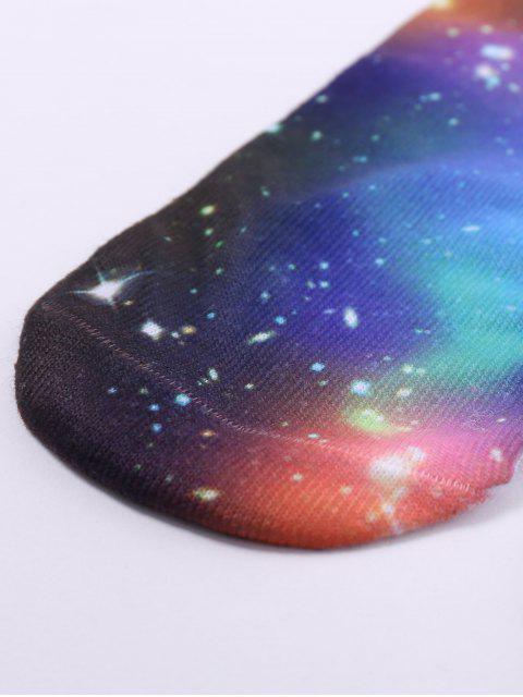 Socquettes à motif de  la galaxie en 3D - Multicolore  Mobile