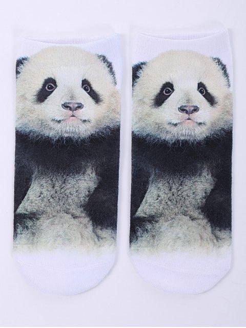 Chaussettes imprimé 3D panda - Blanc  Mobile
