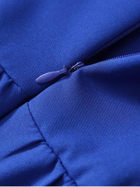 shop Cami Party Wear Dress For Women - SAPPHIRE BLUE M Mobile