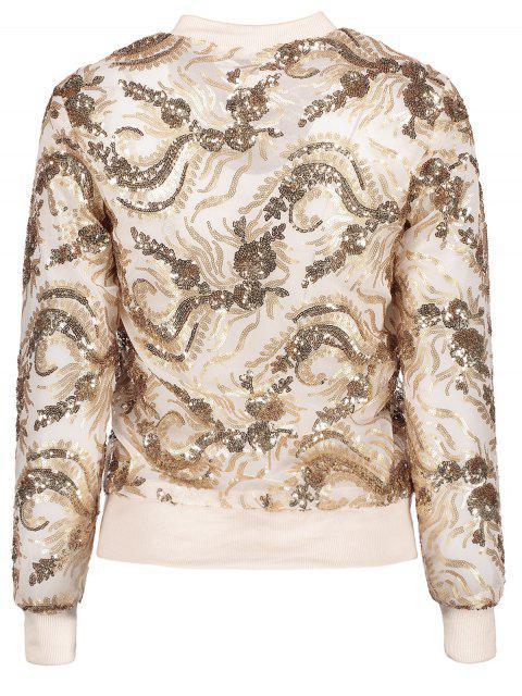 online Punk Gilding Zipper Jacket - ROSE GOLD M Mobile