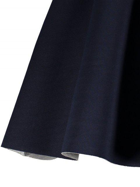 lady Open Back Bonded Skater Dress - CADETBLUE XL Mobile
