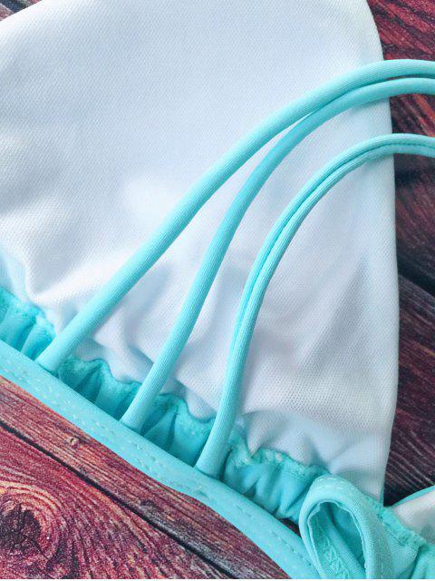 sale Crosscriss Strappy Bikini Set - BLUE L Mobile