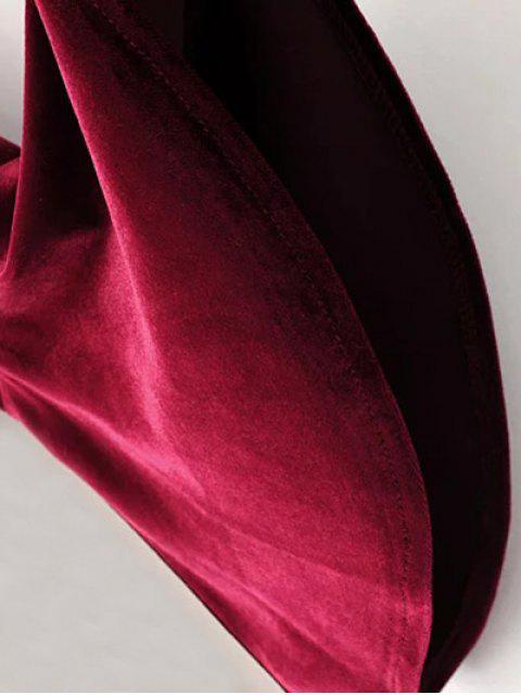 lady Cut Out Bell Sleeve Velvet Dress - BLACK M Mobile