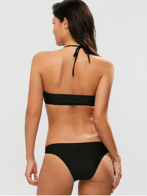 chic Casual Cutout Bikini Set - BLACK L Mobile