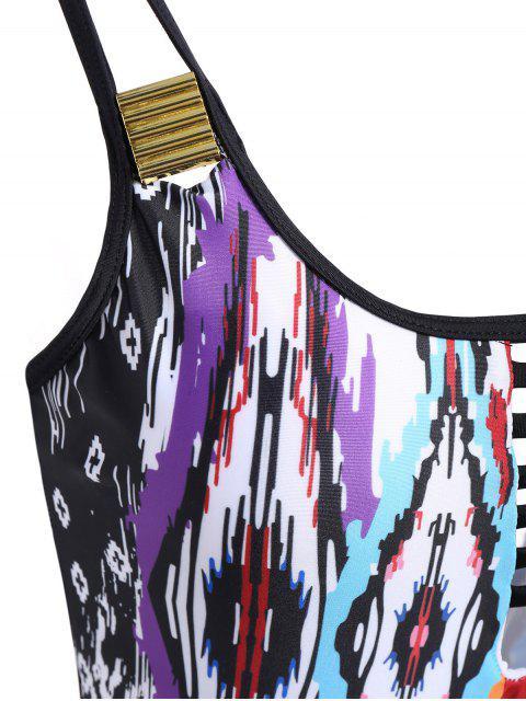 Tie Dyed col haut Maillots de bain - Multicolore L Mobile