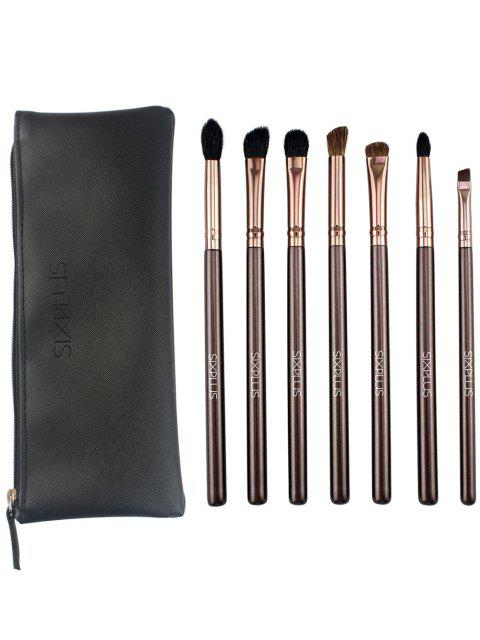 latest 7 Pcs Eye Makeup Brushes Kit - COFFEE  Mobile