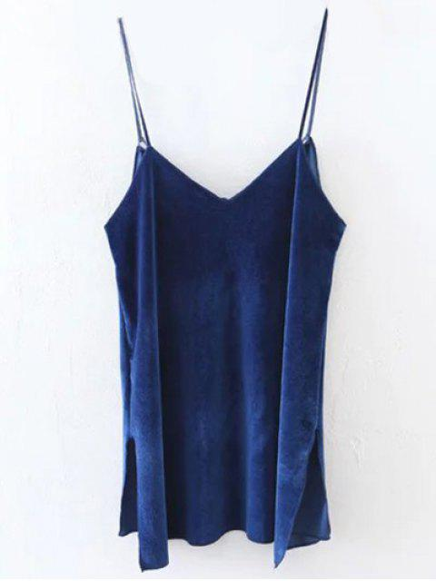sale Slit Cami Velvet Tank Top - ROYAL S Mobile