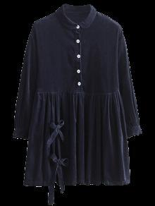 Bowknot De La Pana Del Vestido Del Delantal De La Muñeca - Azul Purpúreo M