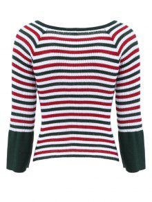 Striped Boat Neck Knitwear; Striped Boat Neck Knitwear ...