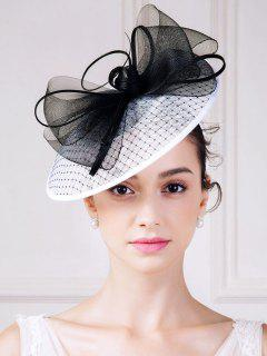 Bowknot Mesh Yarn Fascinator Hat - White