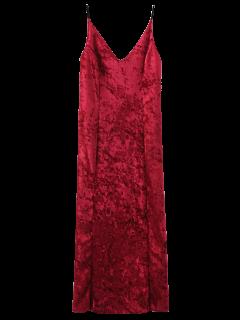 Robe Longue  Cami En Velours  - Rouge M