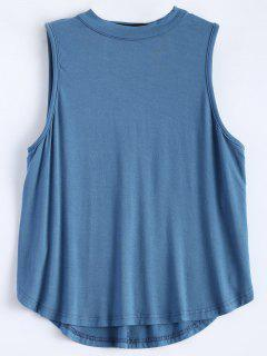 Cut Out Sleeveless T-Shirt - Ice Blue S