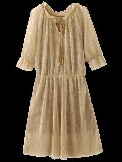 Vestido Escarpado Brillante Y El Vestido Del Resbalón - Dorado S