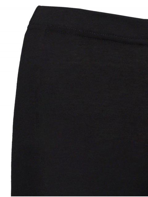 sale High Rise Ripped Leggings - BLACK S Mobile