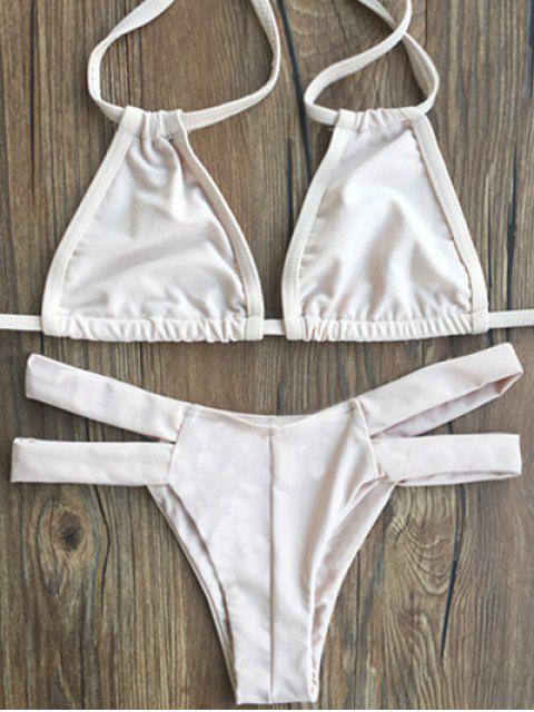 shop Lace-Up Ivory Bikini Set - COMPLEXION M Mobile