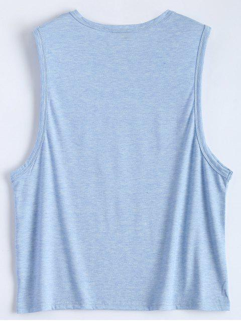 hot Triangle Pattern Tank Top - LIGHT BLUE 2XL Mobile