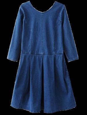 Retour U Neck Jean Dress - Bleu S