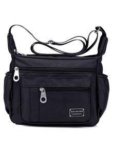 حقيبة كتف لون ازرق للنساء - أسود