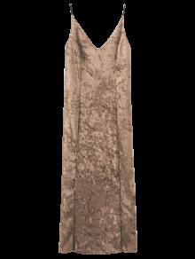 Robe Longue  Cami En Velours  - Champagne S