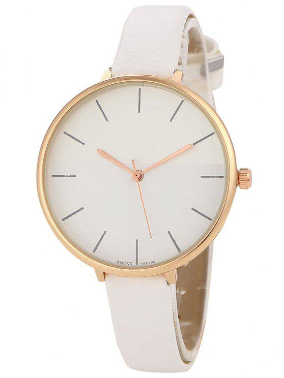 fancy Color Block Quartz Watch - WHITE