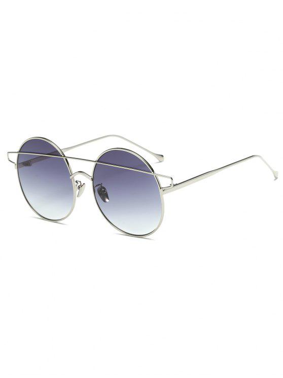 trendy Crossover Round Sunglasses - SILVER