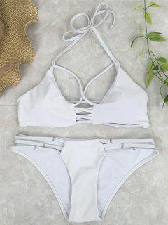 Cutout Crossover Bikini Set - White M