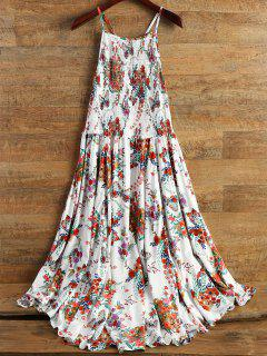 Smocked Flowing Cami Floral Dress - Floral S