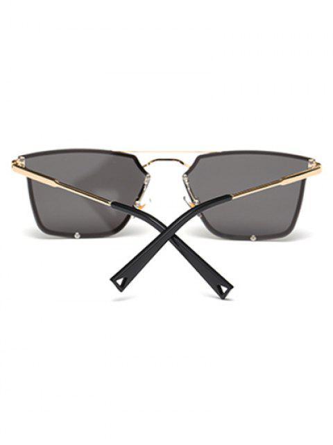 fashion Irregular Double Rims Sunglasses - BLACK  Mobile