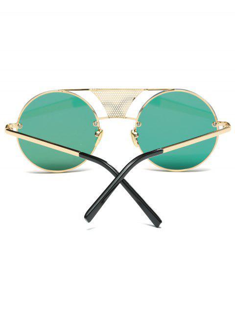 online Openwork Mesh Mirrored Round Sunglasses -   Mobile