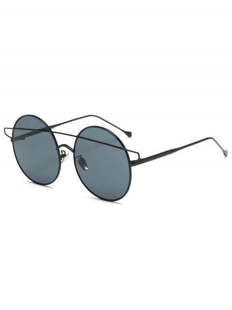 latest Crossover Round Sunglasses - BLACK  Mobile