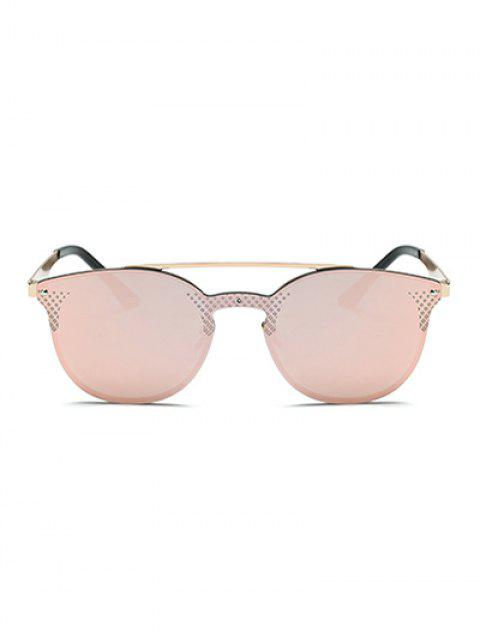 womens Rhombus Pattern Mirrored Butterfly Sunglasses -   Mobile