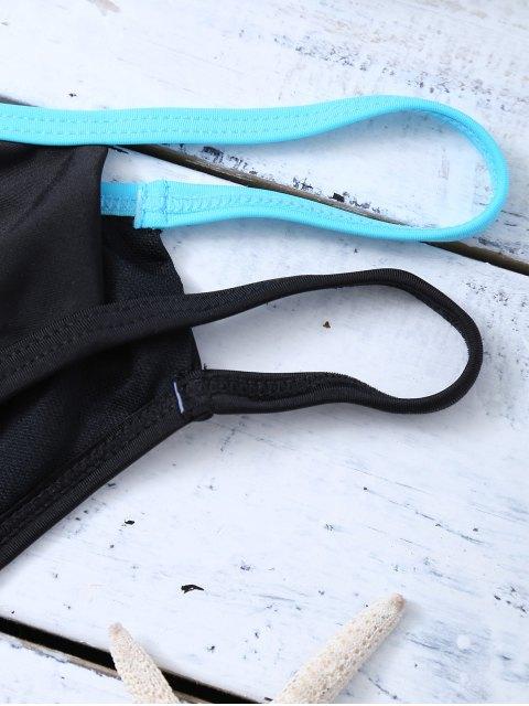 chic Strappy Molded Cups Bikini - BLACK M Mobile