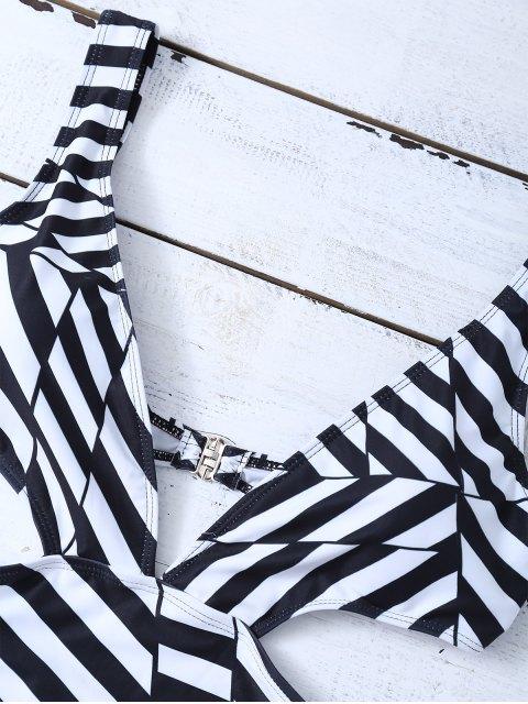 Combinaison de bain noire en blanche avec des bretelles - Blanc et Noir L Mobile