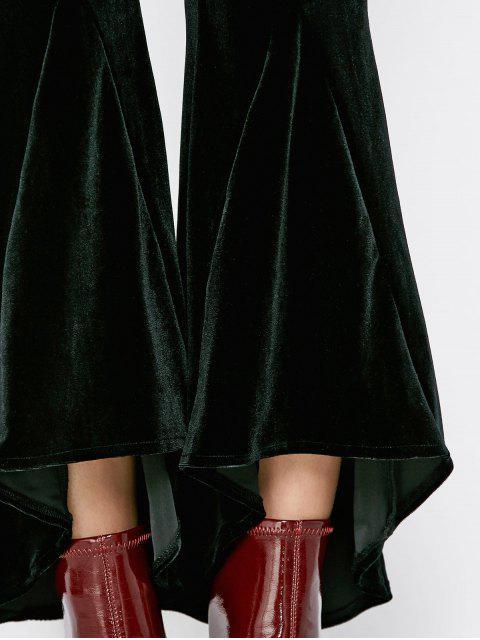 new Velvet High Low Boot Cut Pants - BLACK M Mobile