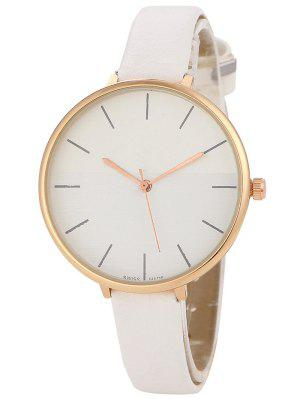 Color Block Quartz Watch - White