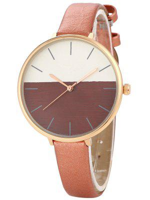 Color Block Quartz Watch