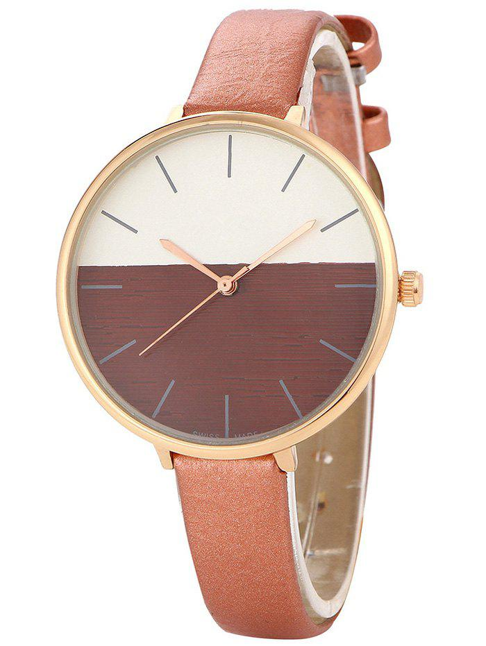 Color Block Quartz Watch