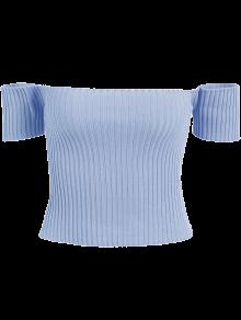 bb5d0a8f429 60% OFF] 2019 Off The Shoulder Rib Knit Crop Top In WHITE | ZAFUL