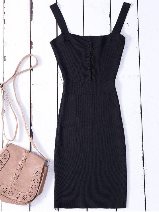 a871482ff3 33% OFF  2019 Wide Strap Bodycon Sweater Dress In BLACK