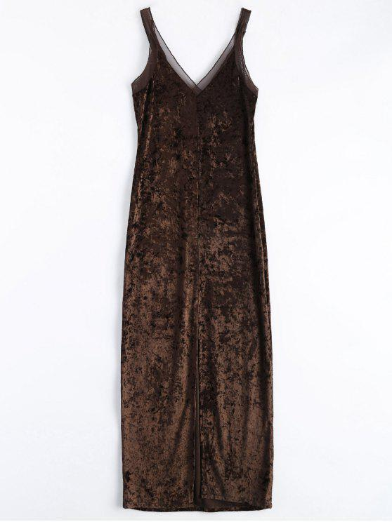 Coffee maxi dress