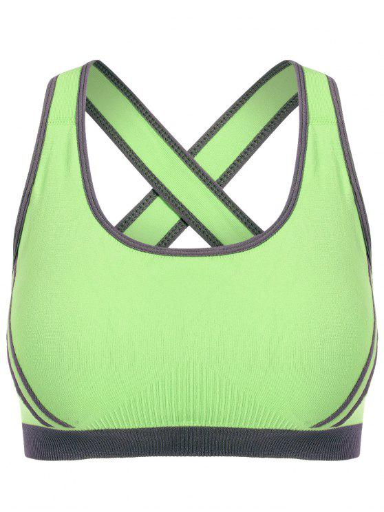 finest selection 5d074 8ad14 Crossback Seamless Sports Bra - Neon Green S