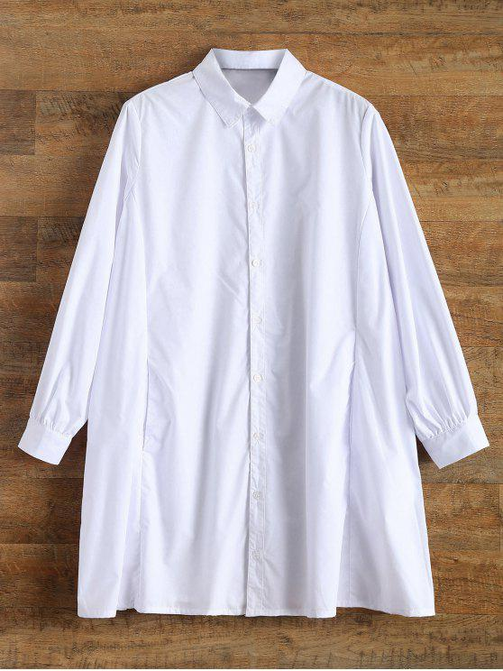 affordable Trapeze Boyfriend Shirt - WHITE M