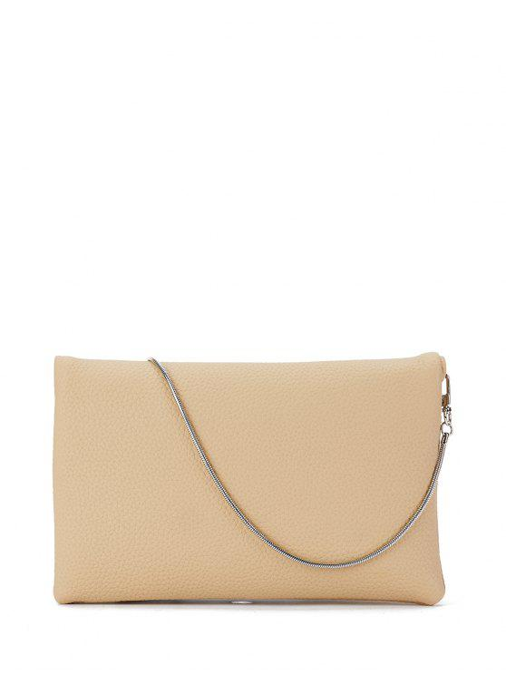 fancy Snake Chain Crossbody Bag - APRICOT