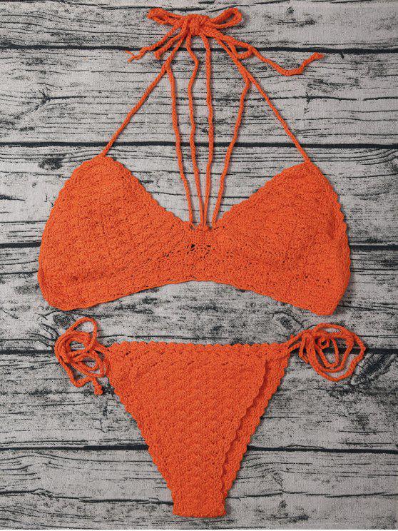 Sandía Roja Hater Crochet Bikini Set - Sandia Roja Un tamaño(Montar tam