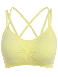 Low Impact Pullover Sports Bra - Yellow L