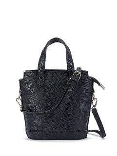 Textured Crossbody Handbag - Black